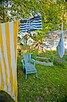 beach towel hanging on line