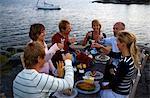 Crayfish party, Fejan, Stockholm archipelago, Sweden.