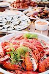 Shellfish buffet, Sweden.