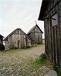 Old barns, Gotland, Sweden.
