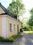 A manor house with a garden, Sweden.