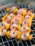 Brochette de crevettes grillées et de poivre, Suède.