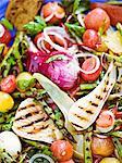 Grilled vegetables, close-up, Sweden.