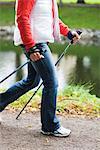 Frau Pole Wandern, Schweden.