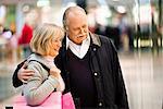 A senior couple window-shopping, Stockholm, Sweden.