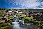 Waterfall on Trekyllisheidi, Westfjords Region, Iceland