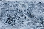 Vue aérienne des montagnes en hiver, Hunavatnshreppur, région de fjords de l'Ouest, Islande