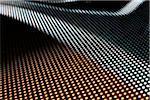 Close-up, full Frame Formen auf eine LED-Anzeige