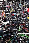 Detail der Geparkte Fahrräder