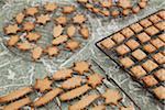 Christmas cookies on racks