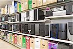 Festplatten zu verkaufen in einem Elektronikfachgeschäft