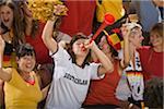 Deutsche Fans jubeln