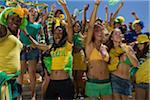Brasilianischen Fans jubeln