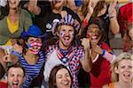 Amerikanische Fans jubeln