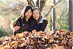 Portrait of Girls in Autumn