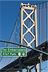 Bay Bridge from Embarcadero, San Francisco, California, USA