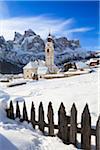 Village of Colfosco, Alta Badia, South Tyrol, Italy