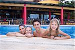 Family in Swimming Pool, Reef Playacar Resort and Spa, Playa del Carmen, Mexico
