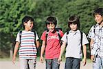 Schoolchildren Walking Outdoors