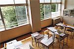 Desk In Empty Classroom