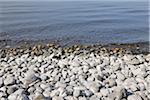 Rochers du rivage, lac de Constance, Meersburg, Bade-Wurtemberg, Allemagne