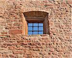 Mur de grès et de fenêtre, Wertheim, Bade-Wurtemberg, Allemagne