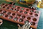 Two People Playing Bao, Zanzibar, Tanzania, Africa