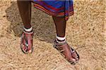 Feet Belonging to Masai Warrior