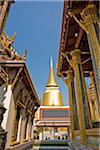 Phra Si Ratana Chedi, Wat Phra Kaew, Grand Palais, Bangkok, Thaïlande