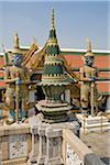 Temple Offering and Guardian Demons, Wat Phra Kaew, Grand Palace, Bangkok, Thailand