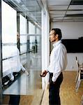 A man in an office, Sweden.