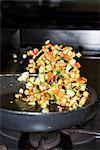 Kochen in einer Restaurantküche.