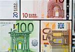 Euro bills, close-up.
