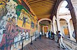 Murals at Palacio de Gobeierno, Morelia, Michoacan state, Mexico, North America