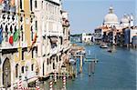 Le Grand Canal et l'église de Santa Maria della Salute, Venise, UNESCO World Heritage Site, Veneto, Italie, Europe