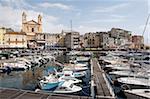 L'yacht port de Bastia, Corse, Méditerranée, Europe