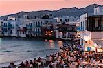 Petite Venise, la ville de Mykonos, Chora, Mykonos, Cyclades, îles grecques, Grèce, Europe