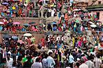 Sa-Paru Gaijatra Festival, Taumadhi Square, Bhaktapur, UNESCO World Heritage Site, Bagmati, Central Region, Nepal, Asia