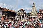 Sa-Paru Gaijatra Festival, Durbar Square, Bhaktapur, UNESCO World Heritage Site, Bagmati, Central Region, Nepal, Asia