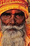 Sadhu, Varanasi (Bénarès), Uttar Pradesh, Inde, Asie
