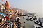 Ghâts Gange, Varanasi (Bénarès), Uttar Pradesh, Inde, Asie