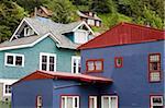 Houses in Juneau, Southeast Alaska, United States of America, North America