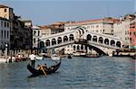 Pont du Rialto, Grand Canal, Venise, UNESCO World Heritage Site, Veneto, Italie, Europe