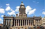 L'hôtel de ville, Victoria Square, le Headrow, Leeds, West Yorkshire, Angleterre, Royaume-Uni, Europe