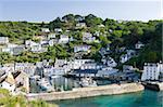 Harbour and village, Polperro, Cornwall, England, United Kingdom, Europe