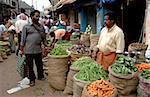 Gemüsemarkt, Chalai, Trivandrum, Kerala, Indien, Asien