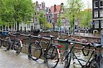 Vélo, Brouwersgracht, Amsterdam, Pays-Bas, Europe