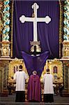 Service du vendredi Saint, Abbaye bénédictine Gottweig, Gottweig, Basse-Autriche, Autriche, Europe