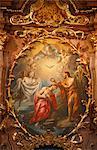 Baptême de Jésus, Abbaye de Melk, Basse-Autriche, Autriche, Europe