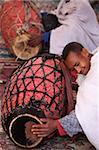 Celebration in Bet Maryam church courtyard, Lalibela, Wollo, Ethiopia, Africa